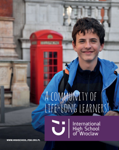 Folder informacyjny International High School of Wroclaw