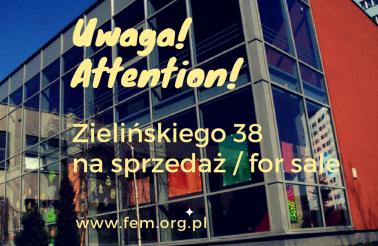 Ogłoszenie o sprzedaży budynku przy ul. Zielińskiego 38 we Wrocławiu