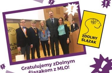 """Gratulacje dla laureatów konkursu """"zDolny Ślązak Gimnazjalista"""""""