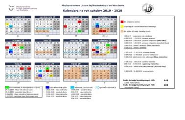 Kalendarz 2019-2020
