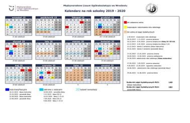 Kalendarz MLO 2019-2020