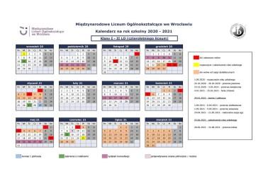 Kalendarium MLO I-II LO 2020-2021 zaktualizowane